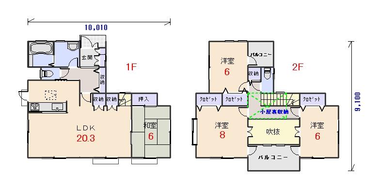 北玄関33.56坪bの間取りプランです