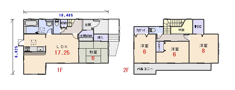 北東玄関31.68坪bの間取りプランのページへ