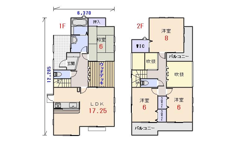 北西玄関31.68坪aの間取りプランです
