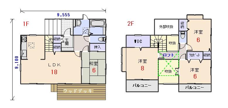 北西玄関32.43坪aの間取りプランのページへ