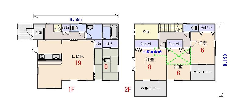 北西玄関33.06坪aの間取りプランです