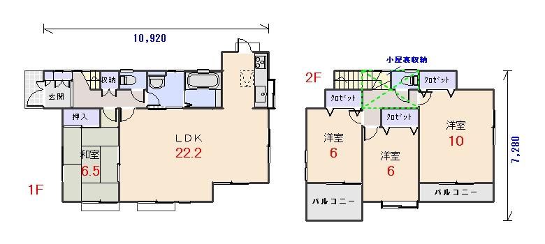 北西玄関34.31坪aの間取りプランのページへ