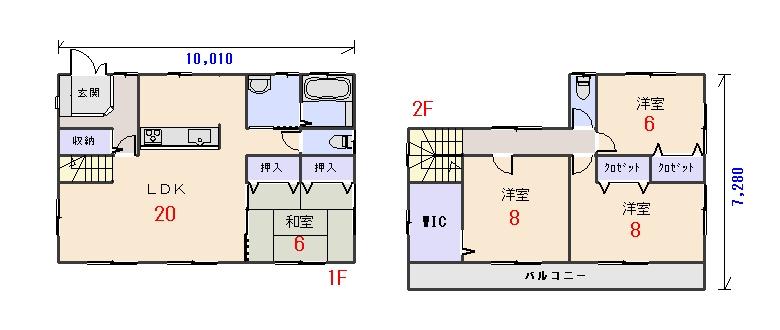 北西玄関35.56坪aの間取りプランのページへ