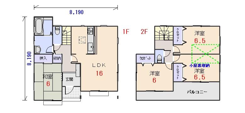 南玄関29.80坪aの間取りプランです