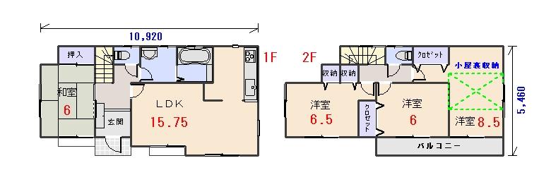 南玄関29.93坪bの間取りプランです