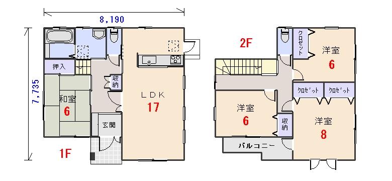 南玄関32.56坪aの間取りプランです