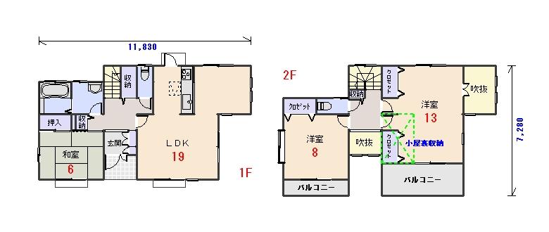 南玄関33.56坪aの間取りプランのページへ
