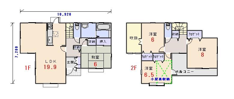 南玄関33.56坪bの間取りプランのページへ