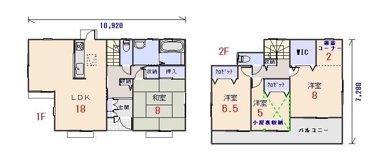 南玄関34.06坪aの間取りプランです