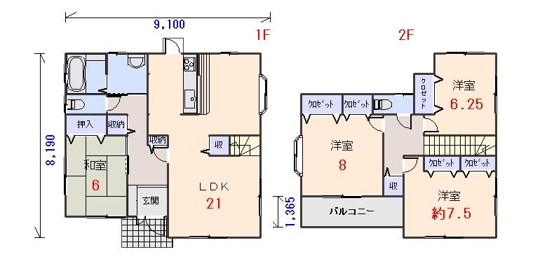 南玄関36.07坪aの間取りプランのページへ