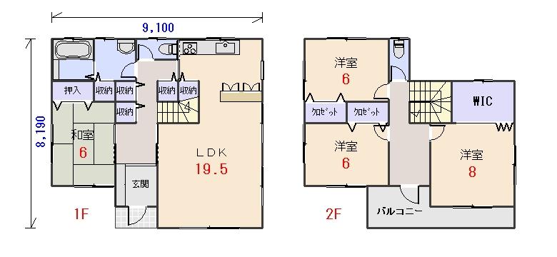南玄関36.56坪aの間取りプランのページへ