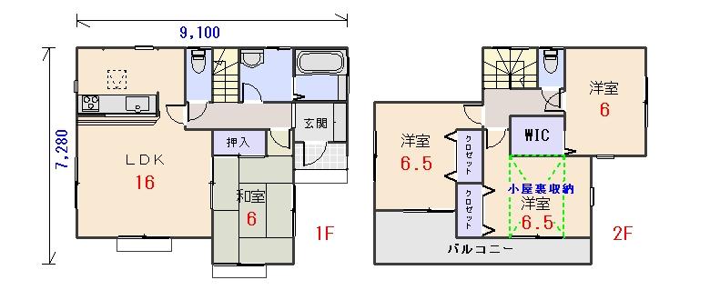南東玄関29.80坪bの間取りプランです