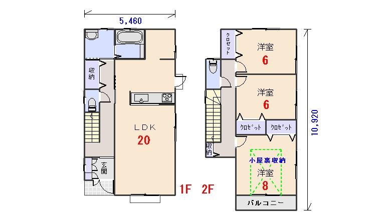 南西玄関30.80坪bの間取りプランのページへ