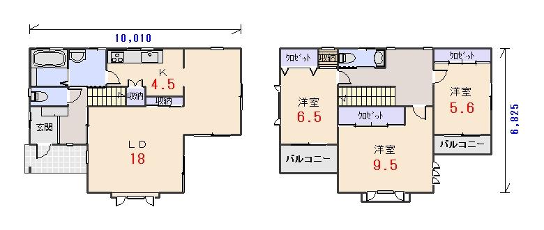 南西玄関33.06坪cの間取りプランのページへ