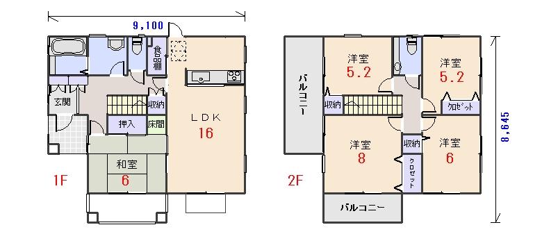 南西玄関34.06坪aの間取りプランのページへ