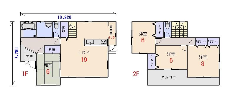 南西玄関34.31坪aの間取りプランのページへ