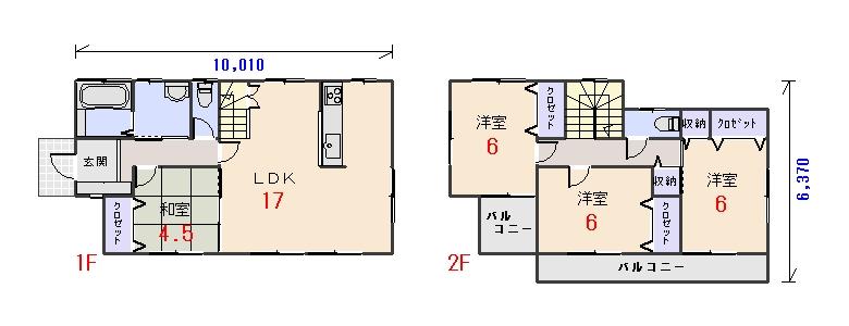 西玄関29.80坪bの間取りプランのページへ