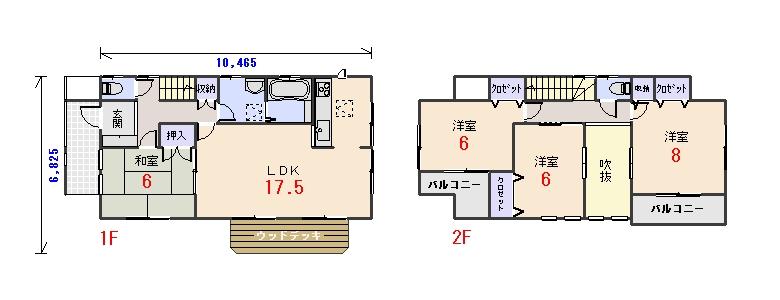 西玄関31.18坪aの間取りプランのページへ