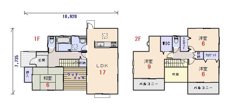 西玄関32.31坪aの間取りプランのページへ