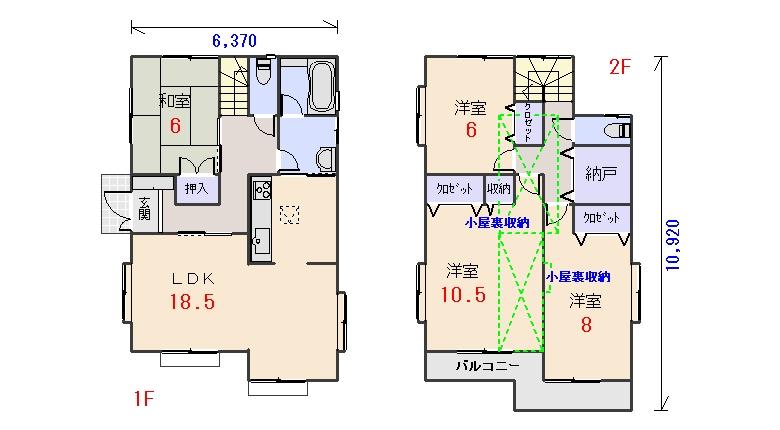 西玄関35.31坪aの間取りプランのページへ